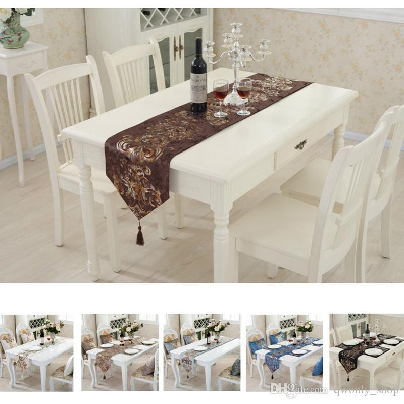 Acheter Luxe Moderne Minimaliste Chemin De Table Nappe Brode