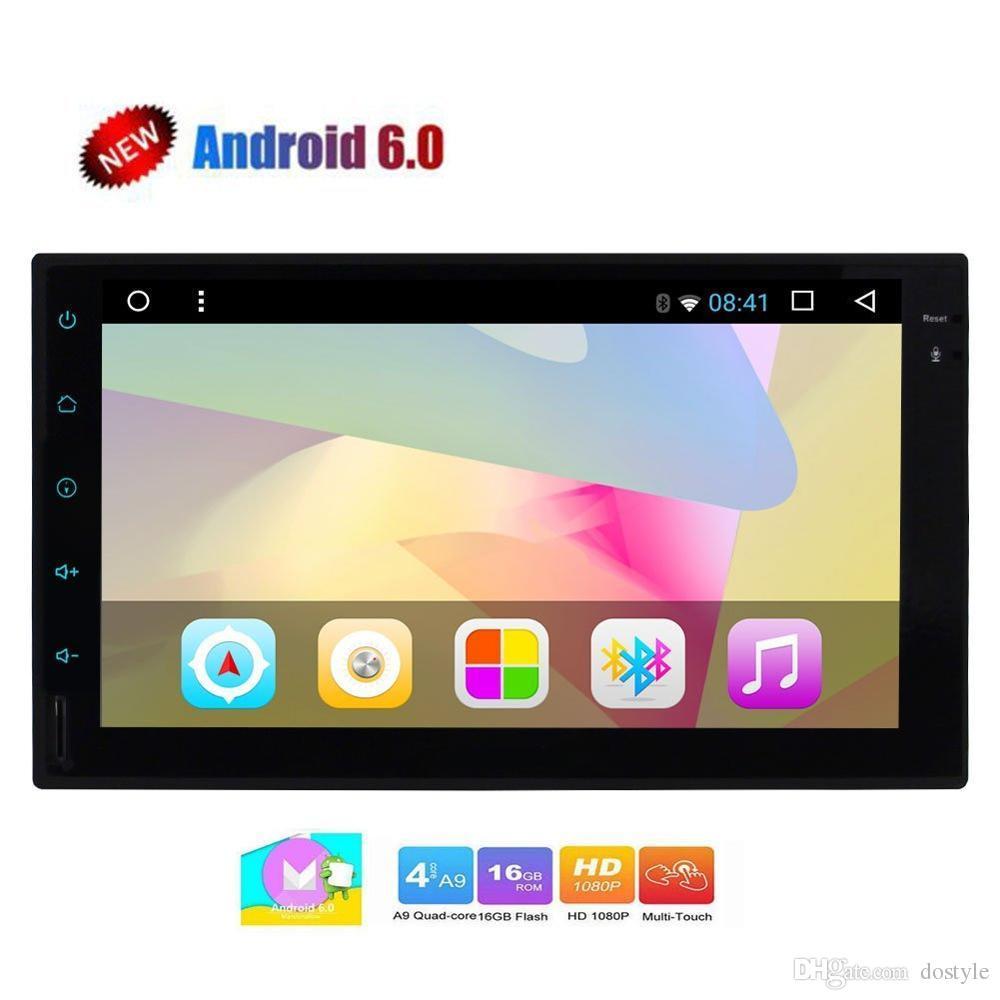 Android Car 비디오 스테레오 라디오 Double 2 Din In Dash 헤드 유닛 쿼드 코어 7 인치 지원 GPS 네비게이션 블루투스 Autoradio FM / AM