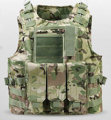 USMC Airsoft Military Tactical Vest Molle Combat Assault Plate Carrier Tactical