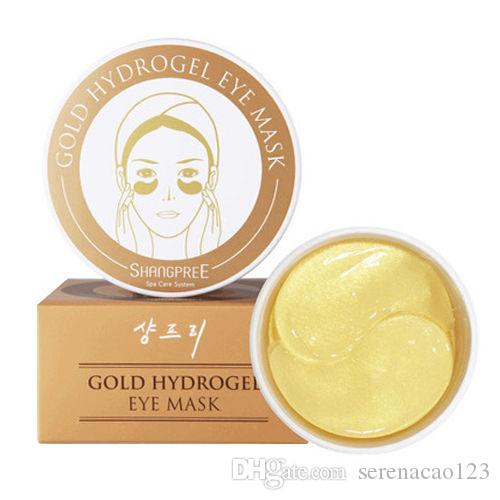 SHANGPREE GOLD HydroGel Eye Mask 60 Sztuk Maska Eye Care Sleep Remover Dark Gold Crystal Collagen Wilgotna maska oczu
