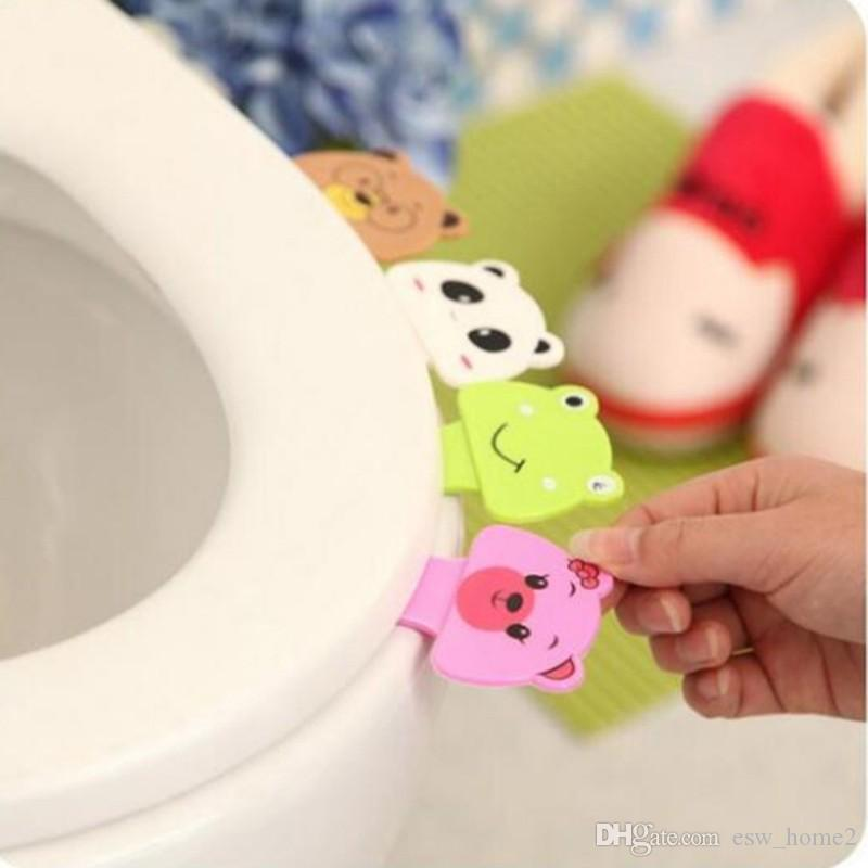 Bath Bathroom Products Cute Cartoon Toilet Lid Cover Lifting Device Toilet Lid Portable Handle House Accessories