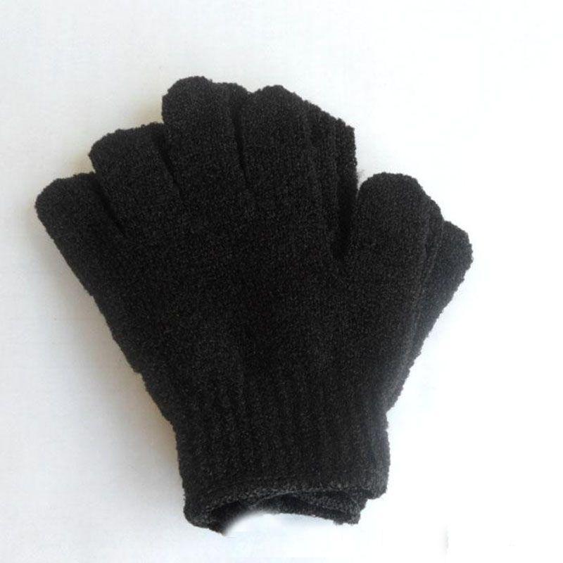Exfoliating Spa Bath Gloves nylon Brush Scrub Shower Gloves Scrubber