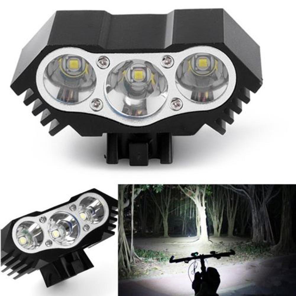 Alta Qualidade 7500 Lumen 3X T6 LED Zoom Mini Lanterna LED ciclismo MTB Road Bike Frontal Cabeça luzes de bicicleta com o Monte