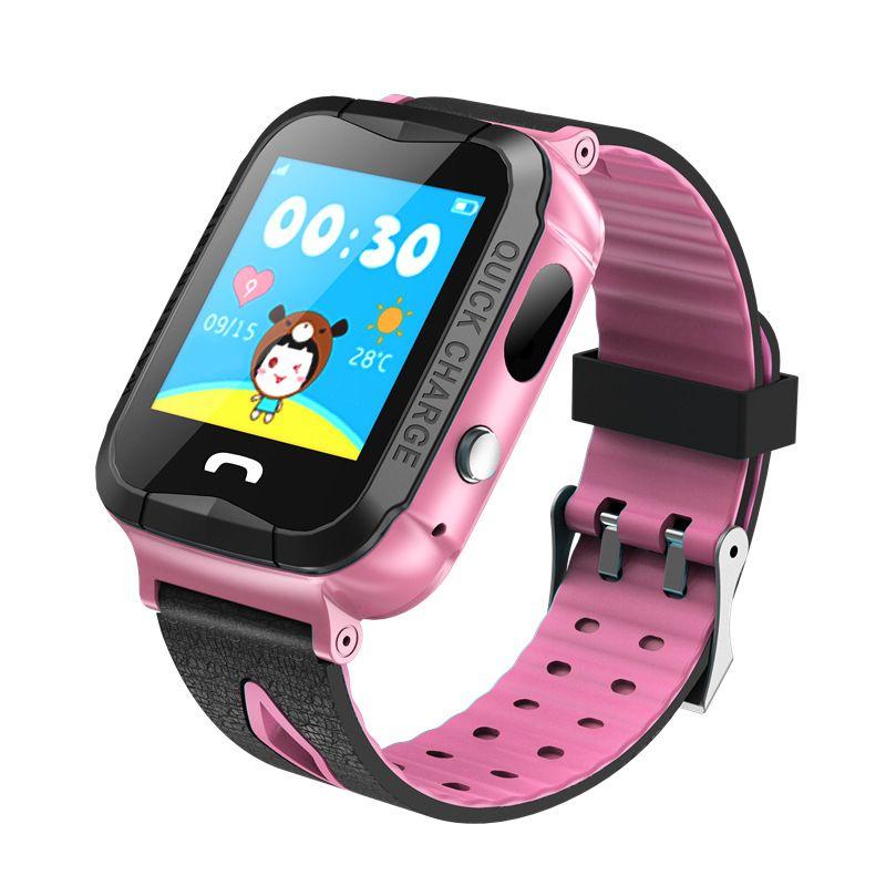 Venda quente V6G relógio inteligente GPS Tracker Monitor de SOS Chamada com câmera Lighting bebê Natação Smartwatch for Kids Criança IP67 Waterproof
