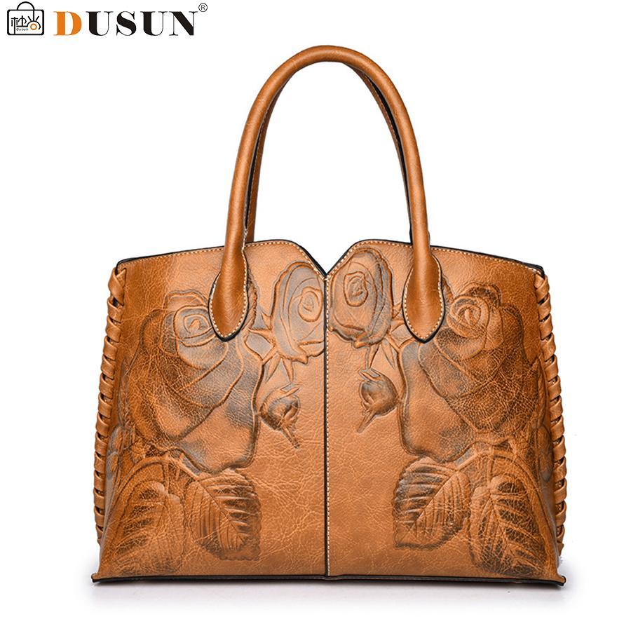DUSUN Bordado Floral Bolsa Mulheres Sacos Do Mensageiro Do Vintage Senhoras Designer de Marca Bolsa de Ombro Feminino de Luxo Bolsa Feminina Sac D18102303