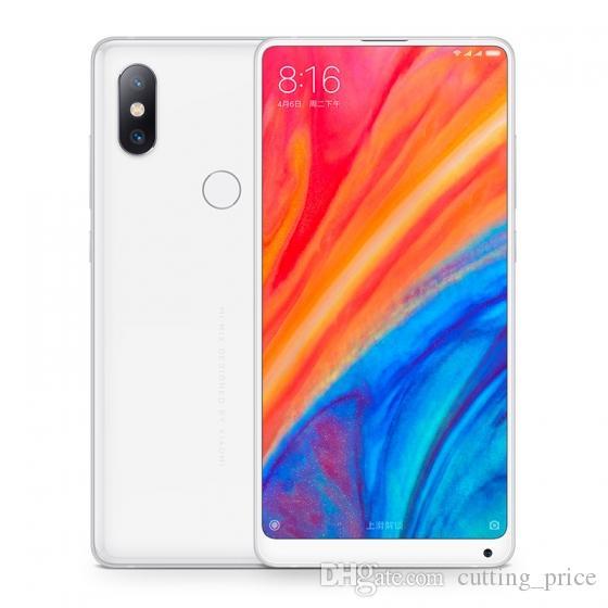 "Original Xiaomi Mi Mix 2S 4G LTE mobile Téléphone mobile 6GB RAM 64GB 128GB ROM Snapdragon 845 octa core Android 5.99 ""Plein écran 12.0mp NFC DigitalPrint ID Face Smart Cell Phone"