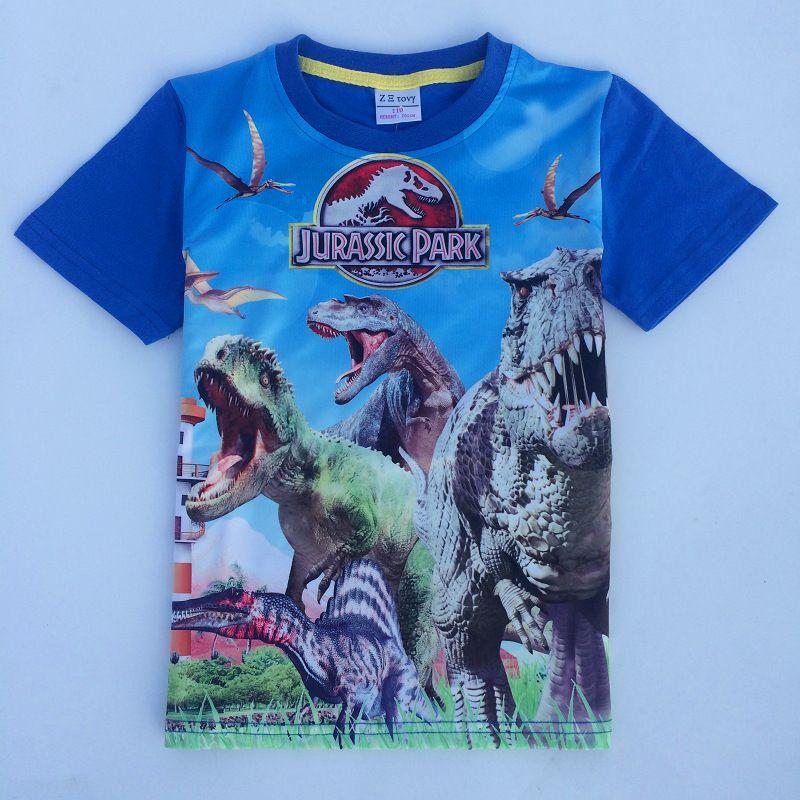 niedrigster Rabatt geringster Preis heiß-verkaufende Mode Großhandel Jurassic Welt Dinosaurier Kinder Jungen T Shirt Sommer Baby  Kinder Jungen Tops T Shirts Für Kinder Jungen Kleidung Kleidungsstücke 3 9  T ...