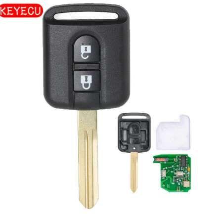 Keyecu Remote Car Key Fob 2 Bouton 433 MHz PCF7946 Puce pour Nissan Micra Navara Qashqai 2003-2010 FCC ID: 5WK4-876