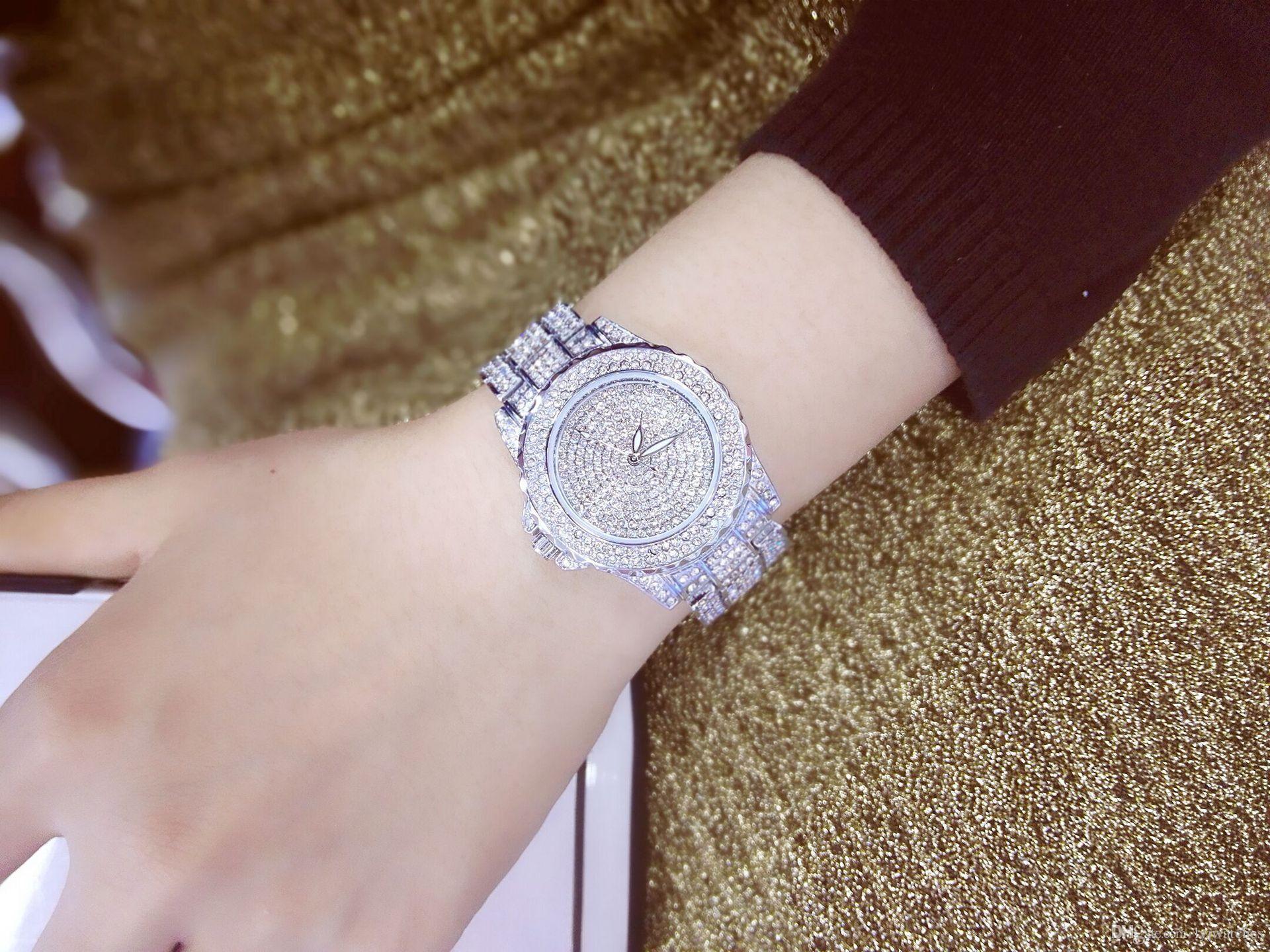 Fashion Korean waterproof full drilled Diamond Crystal Watch Diamond Watches gifts