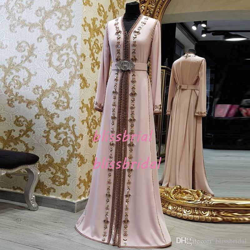 Long Sleeved Morocan Formal Evening Dress Abaya Designs Mermaid Caftan Prom Gown Turkish Muslim Evening Dresses Moroccan Kaftan