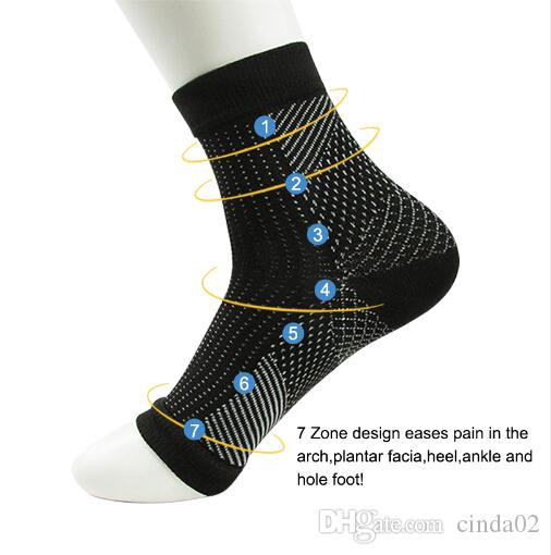 Chaussettes Hosiery Comfort Foot anti-fatigue Femmes Compression Sleeve Elastic Hommes Soulager Swell Ankken Sokken