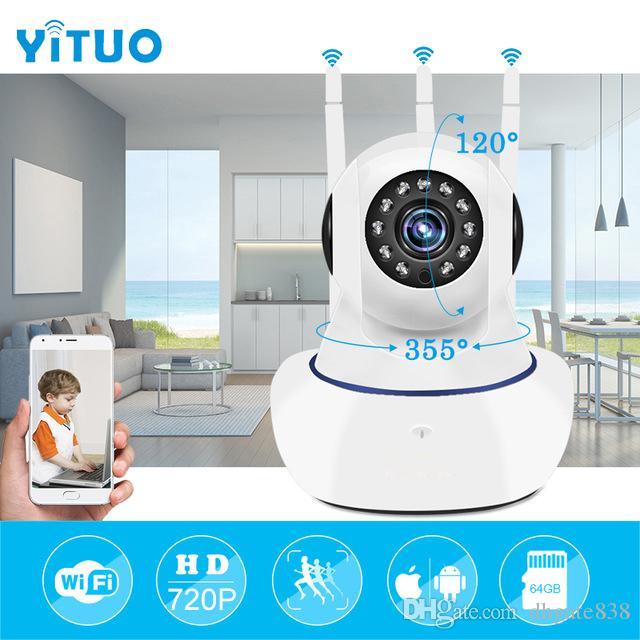Беспроводная IP-безопасность Wi-Fi Камера 720P Wi-Fi Видеонаблюдение P2P мини CCTV Главная Камара Onvif Радионяня Ipcamera YITUO