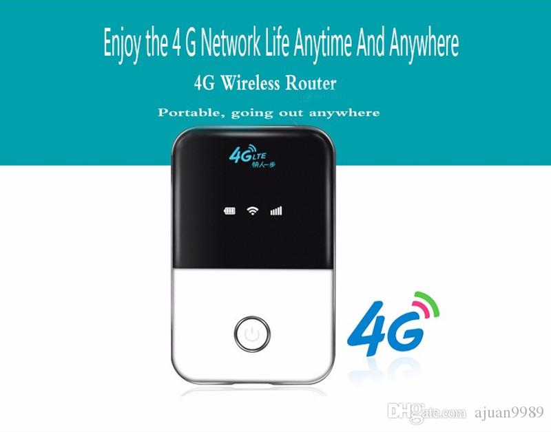 Router 4G LTE Wifi 150Mbps Mobile Wireless Hotspot Car Mifi Desbloqueo módem Broadband Dongle 3G 4G Router Wi-Fi con ranura para tarjeta SIM