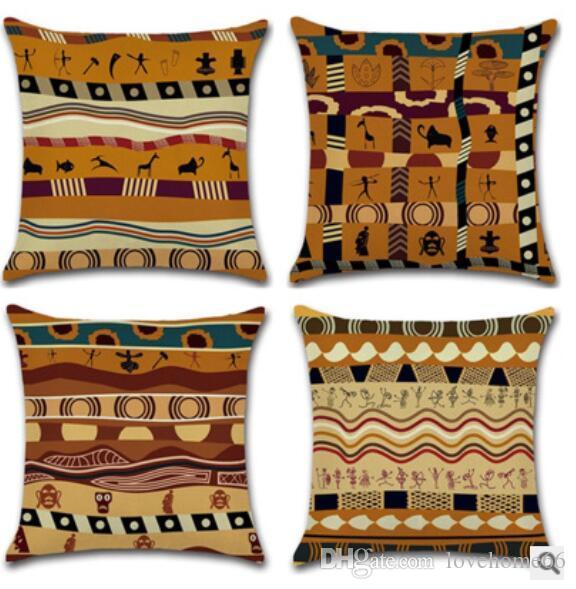 Cuscini Etnici Vendita.Acquista Stile Etnico Africano Gettare Federa Nuovo Design Hot