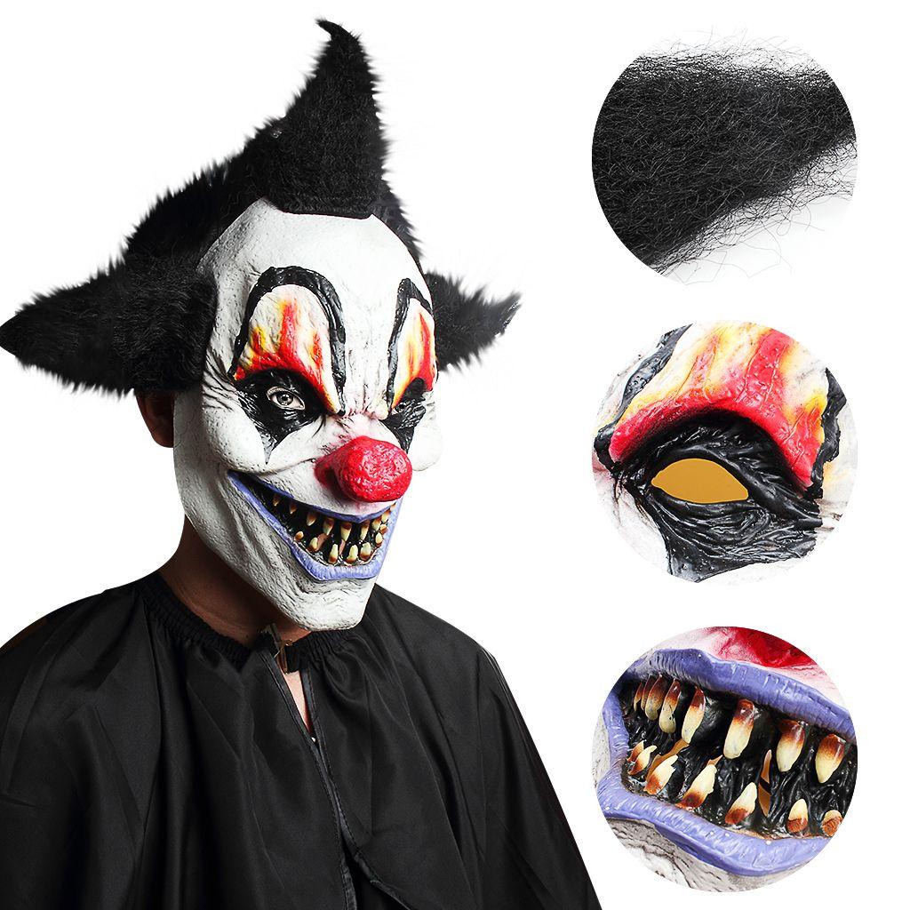 Ужас Колдун Клоун Маска Жуткий Латекс Маска Хэллоуин Побег Одеваются Live Show Страшно