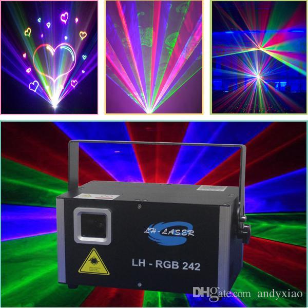 Ilda 45k Galvo Mini 2W RGB كامل اللون الرسوم المتحركة التناظرية الليزر الإضاءة لعيد الميلاد وعطلة أضواء العارض