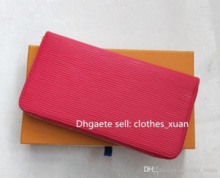 Portafoglio in pelle di lusso di alta qualità Uomini Donne Donne lunghe Borse Soldi Borse Pochette Borse Pochette Doppia Zipper Portamonete con scatola 02