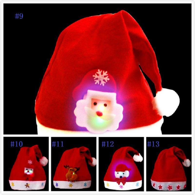 Xmas Christmas Santa Snowman Cap Wool Hat Party Headgear Costume Kids Gift
