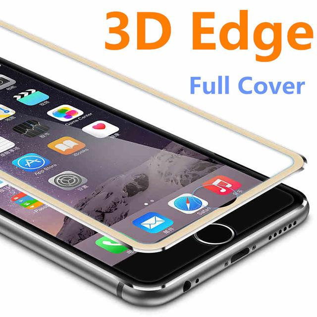 3D Aluminum alloy Tempered Glass Case for iphone 8 6 6s 7 Plus X Full Film Fundas For 5 5s se 5C Case