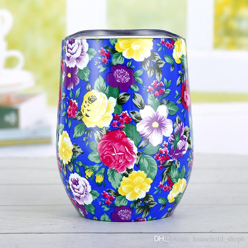Creative 12oz Coffee Mug 304 Double Layer Mugs Tumbler Insulated thermos Cup Travel Coffee Water Bottle