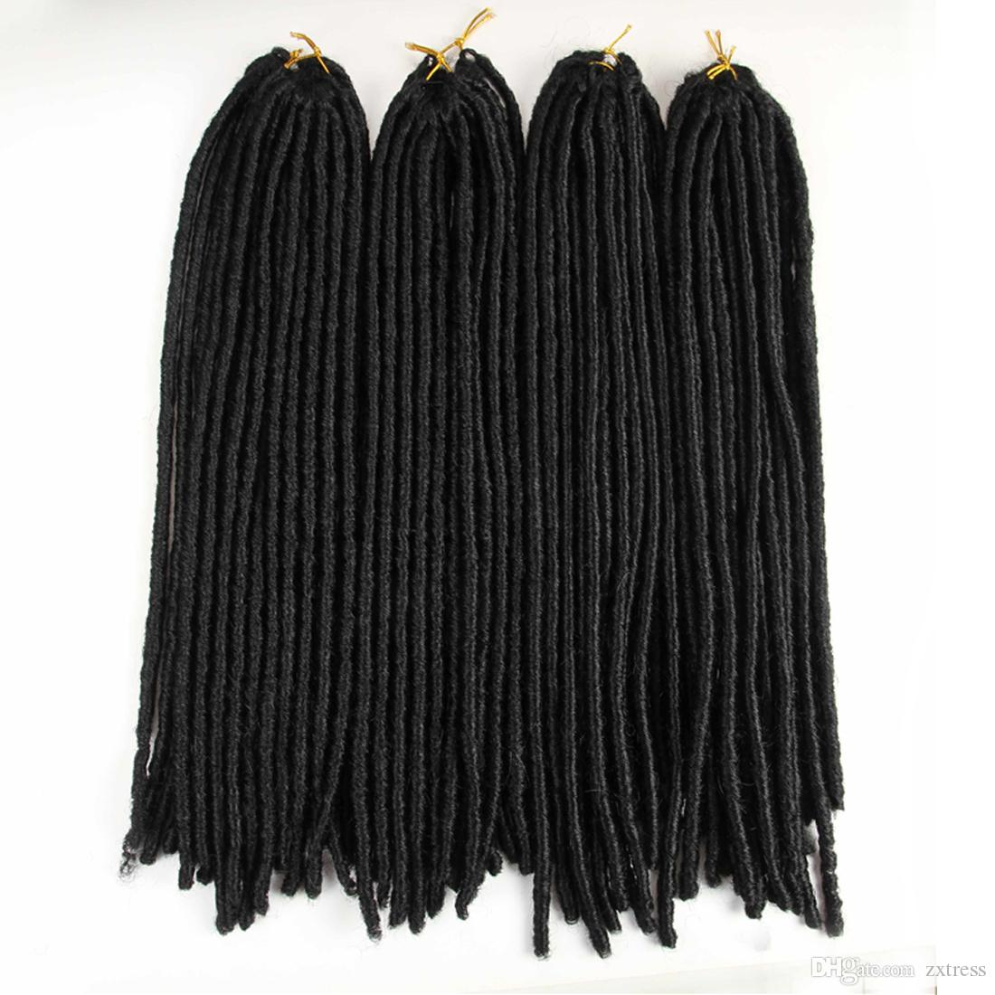 20inch 5packs Soft Dreadlocks Crochet Braids Kanekalon Jumbo Dread Hairstyle Ombre Synthetic Braiding Hair Extensions Faux Locs