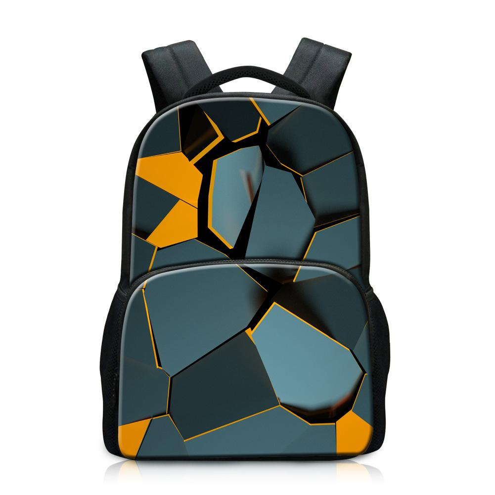 Branded Backpacks at Lowest Price Print Geometry on Daypack for Boy Newest School Bags for College Students Fashion School Bookbag for Girl