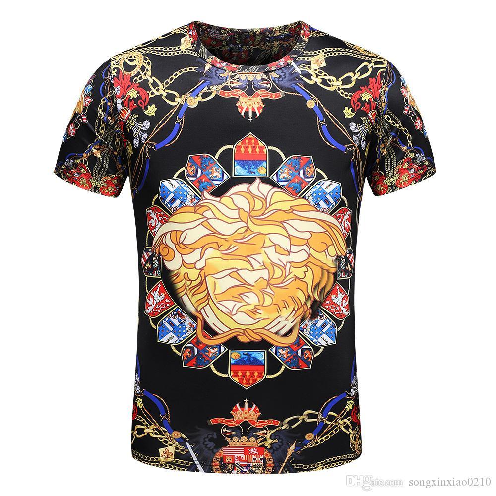 2018 neue T-shirt Mode Gedruckt Herrenbekleidung Casual Sommer Kurzarm Tops Tees Shirt T Für MÄNNER kleidung Hip Hop mit tags M-3XL