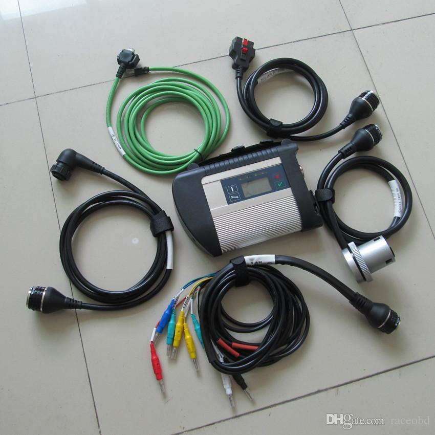 ST STRUMENTO DI Diagnosi STAR STAR C4 con 5 cavi WiFi wireless senza HDD per auto e scansione del camion