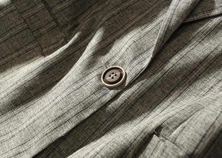 2018 printemps été nouvelle mince mince demi-manches à carreaux costume décontracté veste femmes long blazer lin plus la taille 3XL