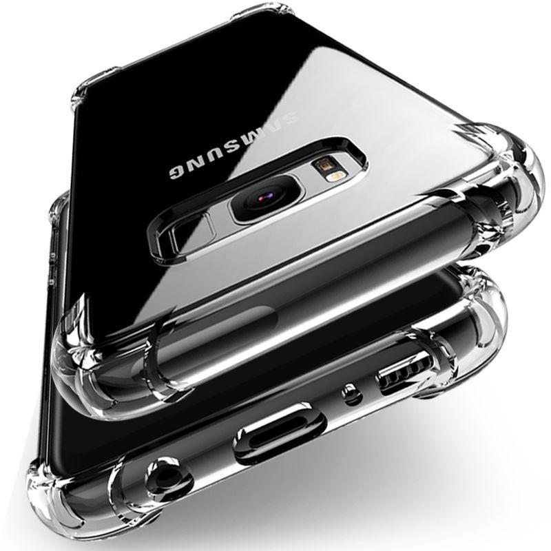 Anti-knock Silicon Case For Samsung Galaxy S8 case S6 S7 Edge J3 J5 J7 A3 A5 2016 2017 J2 Prime TPU Clear Full Protective Cover