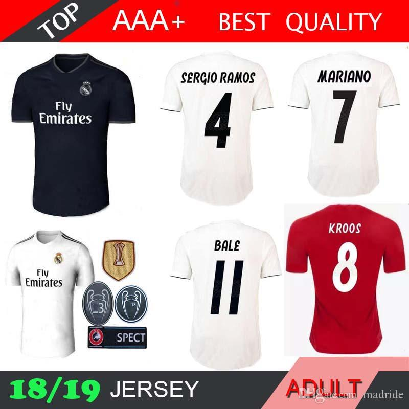 Real Madrid 2018-2019 Black Jersey size Large No Player away