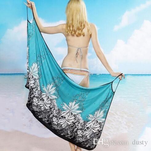 spiaggia spiaggia delle donne sexy del vestito dell'imbracatura vestito da usura sarong bikini insabbiamenti avvolgere gonne asciugamano costumi da bagno aperto-Back