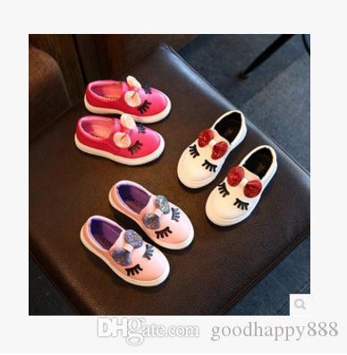 Sapatilhas das meninas primavera 2018 nova criança das crianças do bebê branco bowknot glitter casual macio sapatos baixos crianças chaussure enfant eur21-30