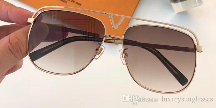 Luxury Z1031E Occhiali da sole per unisex Moda MASCOT Ovale 1031 design Protezione UV Lente Specchio Lente a specchio Colore cornice placcata Vieni con custodia