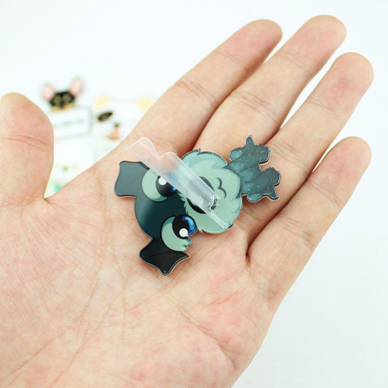 Hot Cute Cartoon 1pc Animal Brooches Husky Pet Acrylic Collar Badge Fashion Funny Charm Gift