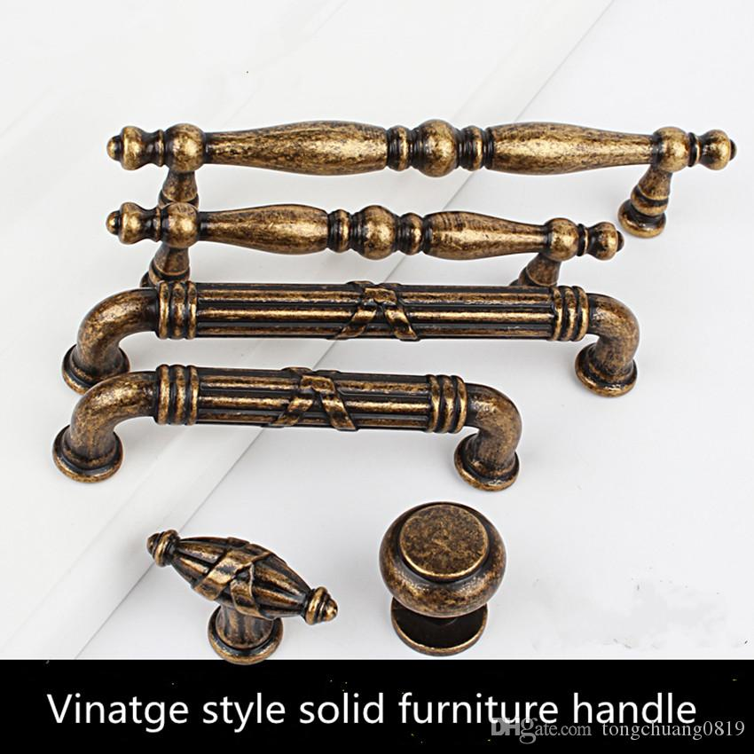 2021 96mm 128mm Retro Style Solid Kitchen Cabinet Cupboard Door Handle Antique Brass Drawer Dresser Wardrobe Pull Knob Bronze Handle From Tongchuang0819 32 57 Dhgate Com