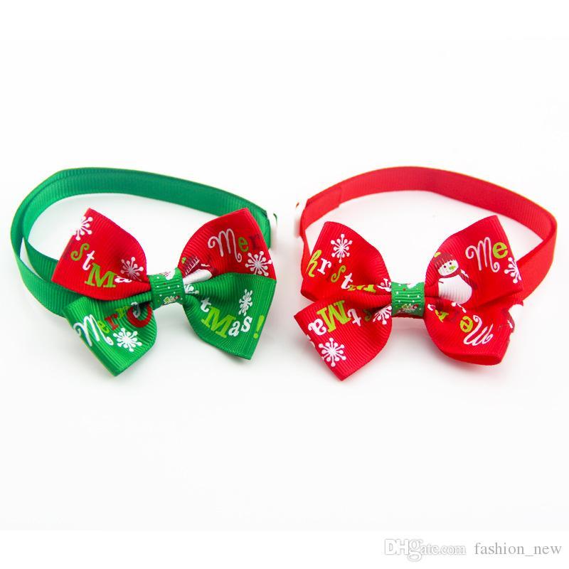 سخونة عيد الميلاد الحيوانات الأليفة جرو كلب القط بابيون ربطات عنق كلب هدية عيد الميلاد عطلة الزفاف الديكور الاستمالة الملحقات