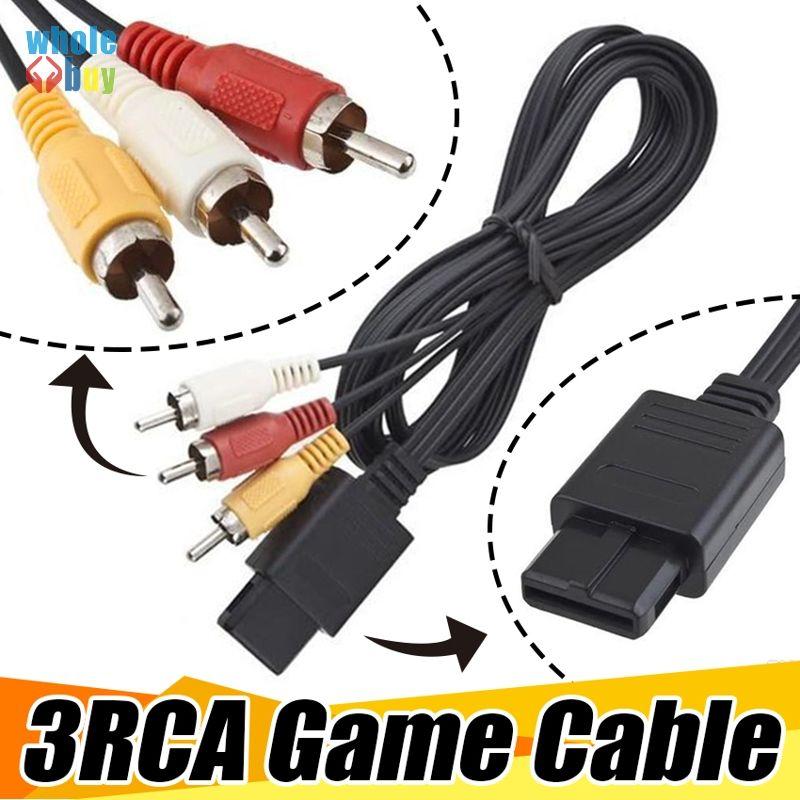 1.8 м 6FT AV TV RCA видео кабель шнур кабель для игры куб / для SNES GameCube / для Nintendo для N64 64 игровой кабель