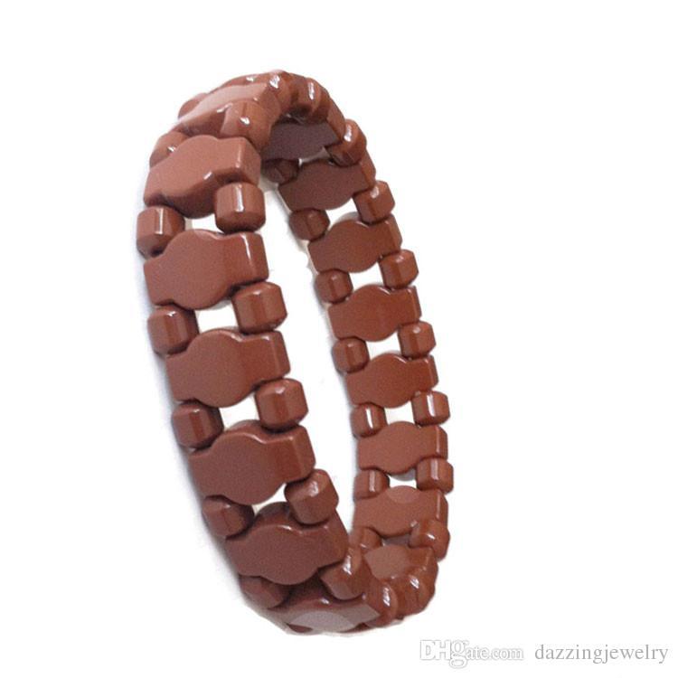 Wholesale Mix Styles Men Women Negative Ion Natura Black Tourmaline energy Wrist bracelet health germanium bracelet power benefits