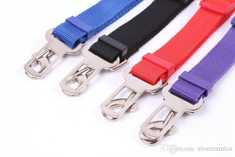 تعديل pet القط الكلب سلامة السيارة حزام الأمان تسخير حزام الأمان الرصاص المقود للكلاب 5 ألوان حزام الأمان clipdog مقعد السيارة 100 أجزاء