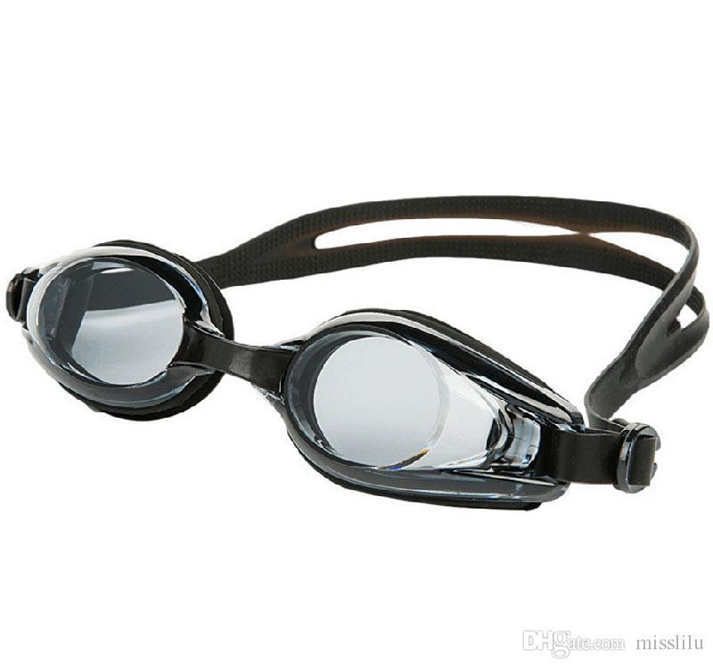 الكبار نظارات السباحة شفاف رجال والنساء للماء والضباب والدليل مريحة سيليكون شقة هد سباحة