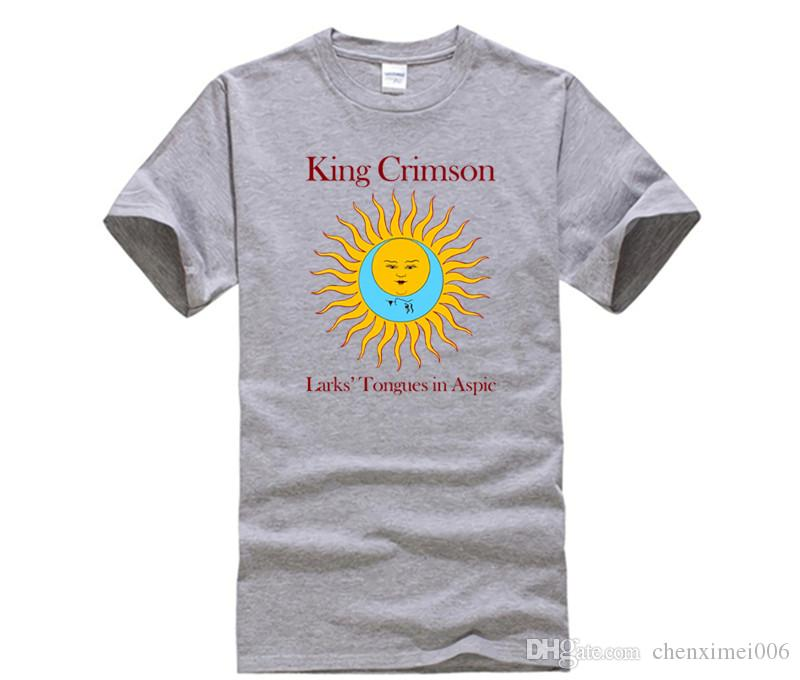 King Crimson Men/'s  Larks/' Tongues In Aspic Black T-shirt Black