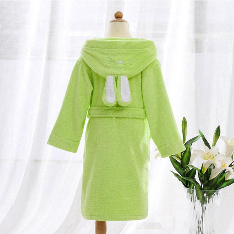 어린이 두건 목욕 가운 타올 키즈 소년 소녀 코튼 러블리 로브 드레싱 가운 키즈 홈웨어 잠옷 벨트 포함