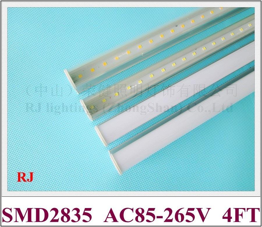 Lâmpada de luz de tubo de LED compacta integrada T5 LED Fluorescente Tubo 1200mm 4FT 20W AC85V-265V Entrada de alumínio SMD2835
