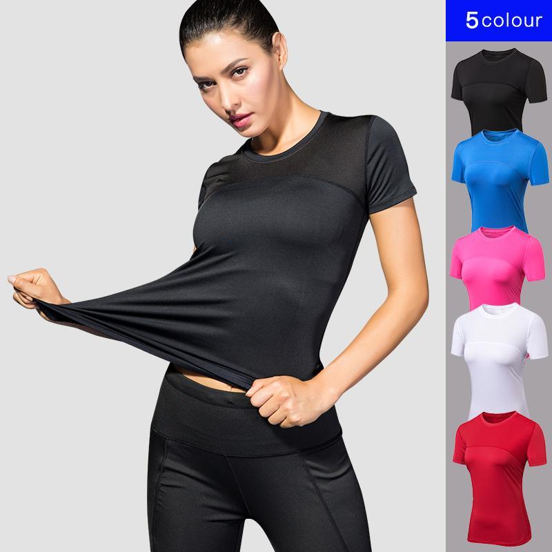 2018 Womens Yoga Tops Quick Dry Fitness Sports Sleeveless T Shirt Solid Gym Running Tops Slim Yoga Shirt black fitness clothing