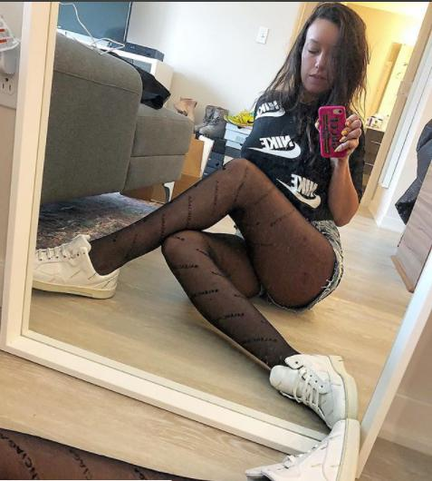 Black women in pantyhose 2021 Women Letter Logo Tights Black Sexy Fishnet Stockings Fashion Thin Crotch Mesh Pantyhose For Trendy Female From Hyx7595 6 1 Dhgate Com