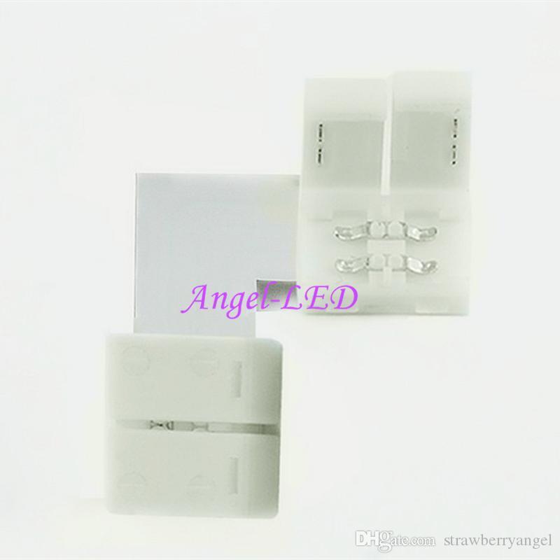 10 대 L 모양 LED 커넥터 2 핀 / 3 핀 / 4 핀 / 5 핀 솔더리스 8 미리 메터 / 10 미리 메터 / 12 미리 메터 5050 / ws2811 / ws2812b RGB / RGBW / WW SMD LED 스트립