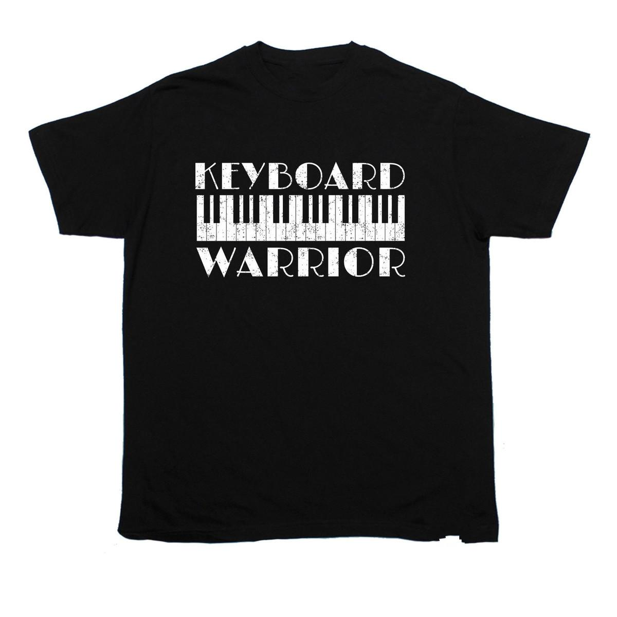 Keyboard Warrior T-SHIRT Band Music Piano Fashion Funny Present birthday gift Youth Round Collar Customized T-Shirts top tee