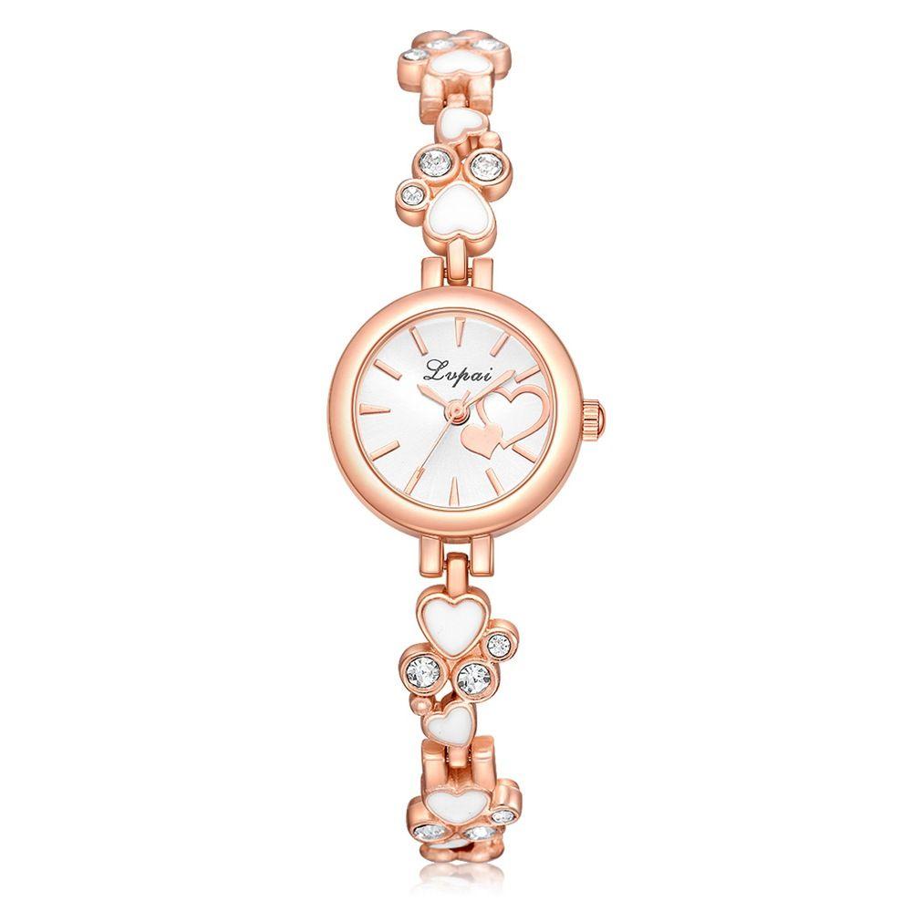 YOYO wholesale women fashion 2018 alloy bracelet watches new ladies casual double love diamond chain dress quartz wrist watches