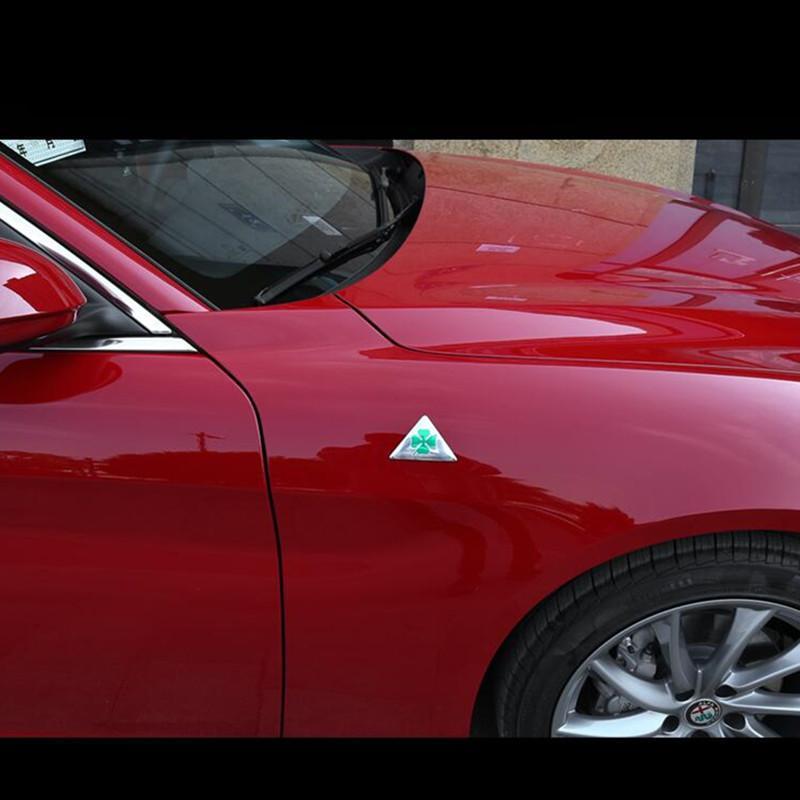N//A 2 pcs//lot Vert Delta Logo Voiture Fender Autocollant Embl/ème Badge pour Alfa Romeo Mito 147156159 Giulietta Giulia